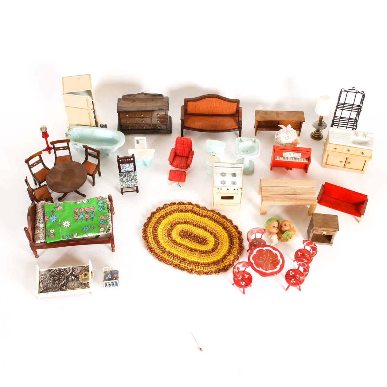 Collection Of Vintage Dollhouse Accessories Ebth