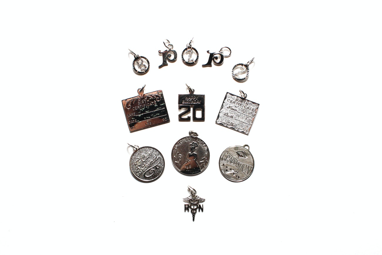 Generous Collection Of Vintage Sterling Silver Charms