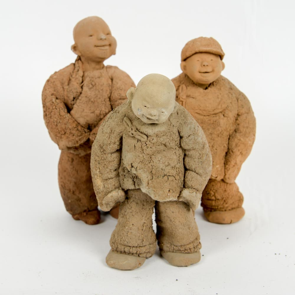Chinese Clay Sculptures by Yu Qing Chang
