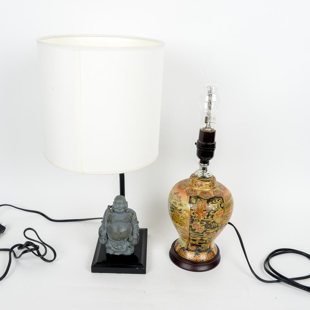 Two Chinese Inspired Lamps