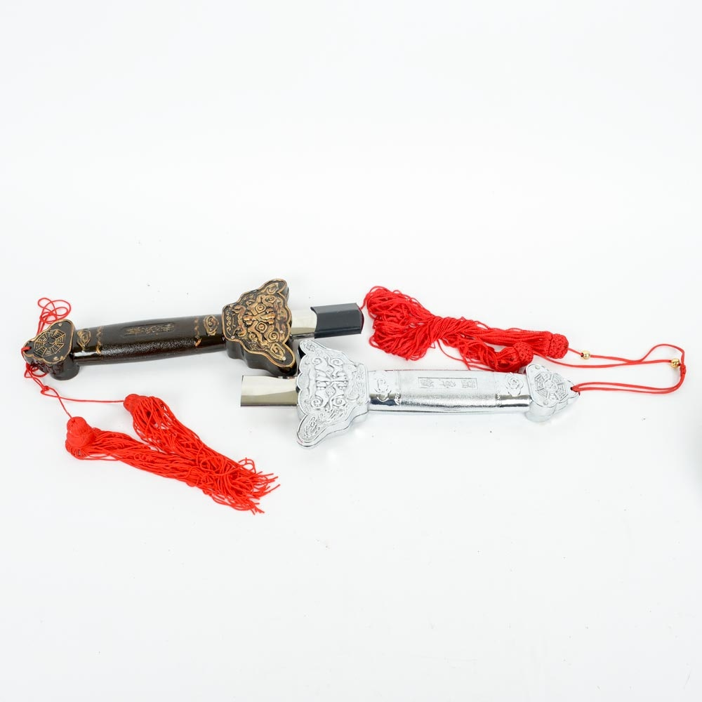 Pair of Collapsible Tai Chi Swords