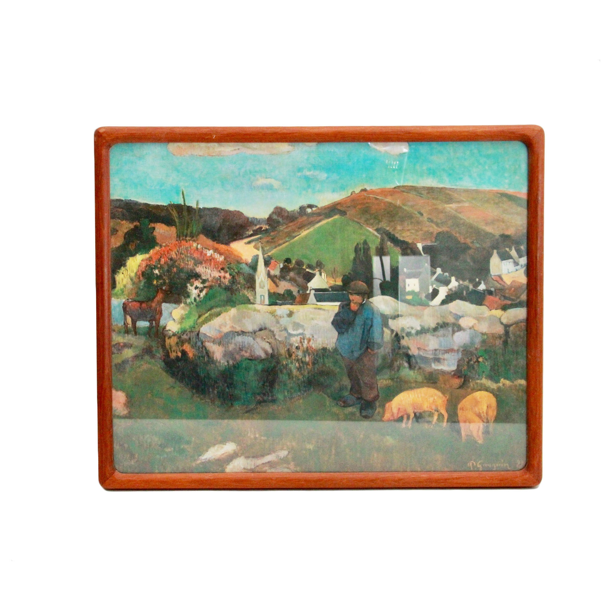 "After Paul Gauguin ""The Swineherd"" Giclee Print"