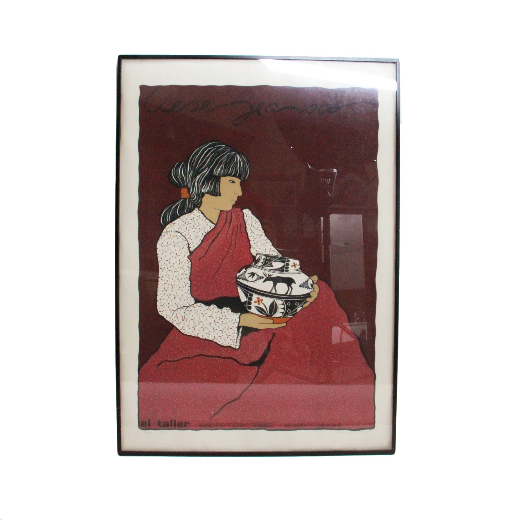 Liese Jean Scott Limited Edition Serigraph of Southwestern Portraiture