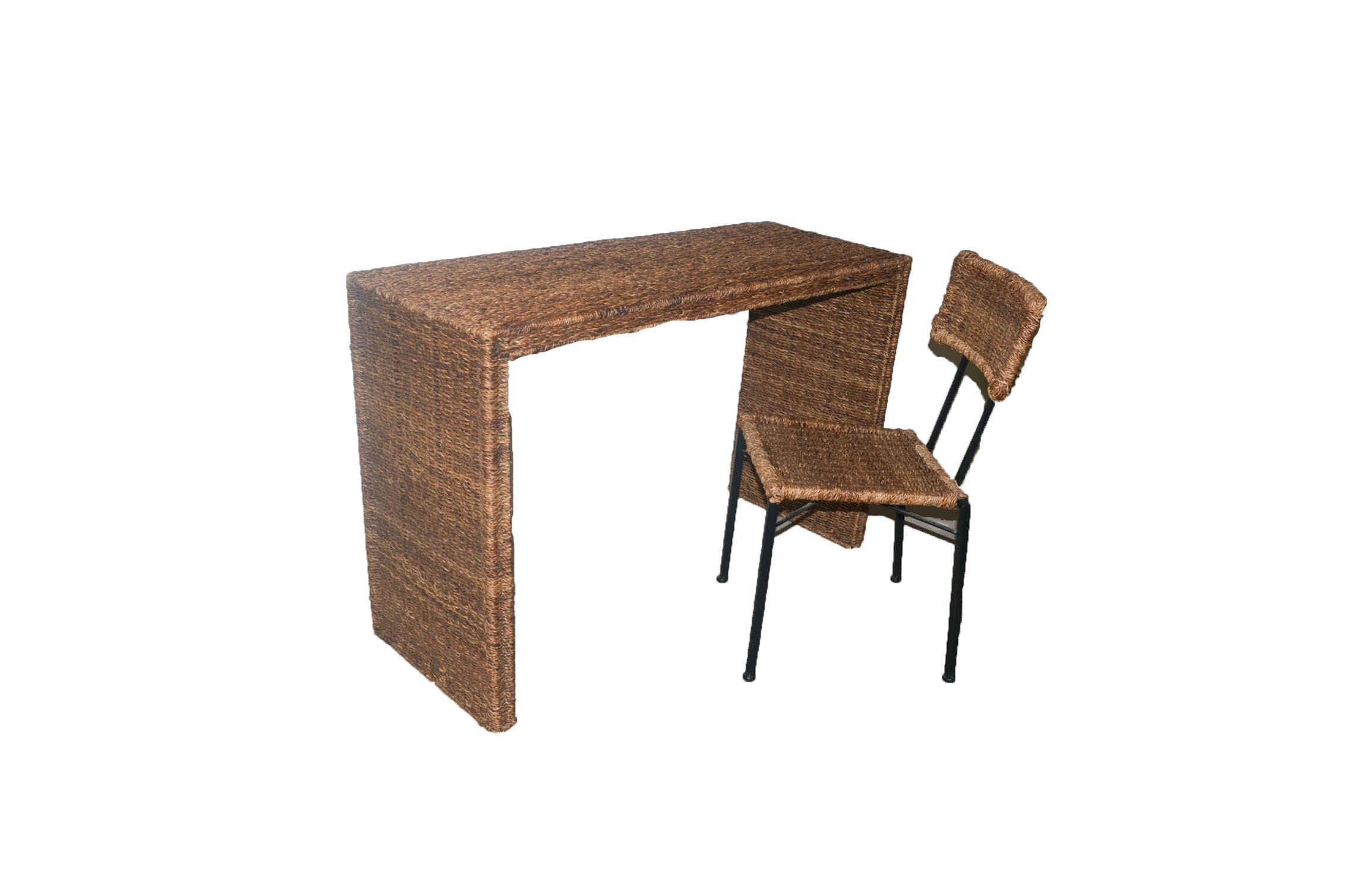 Rattan Desk and Matching Chair