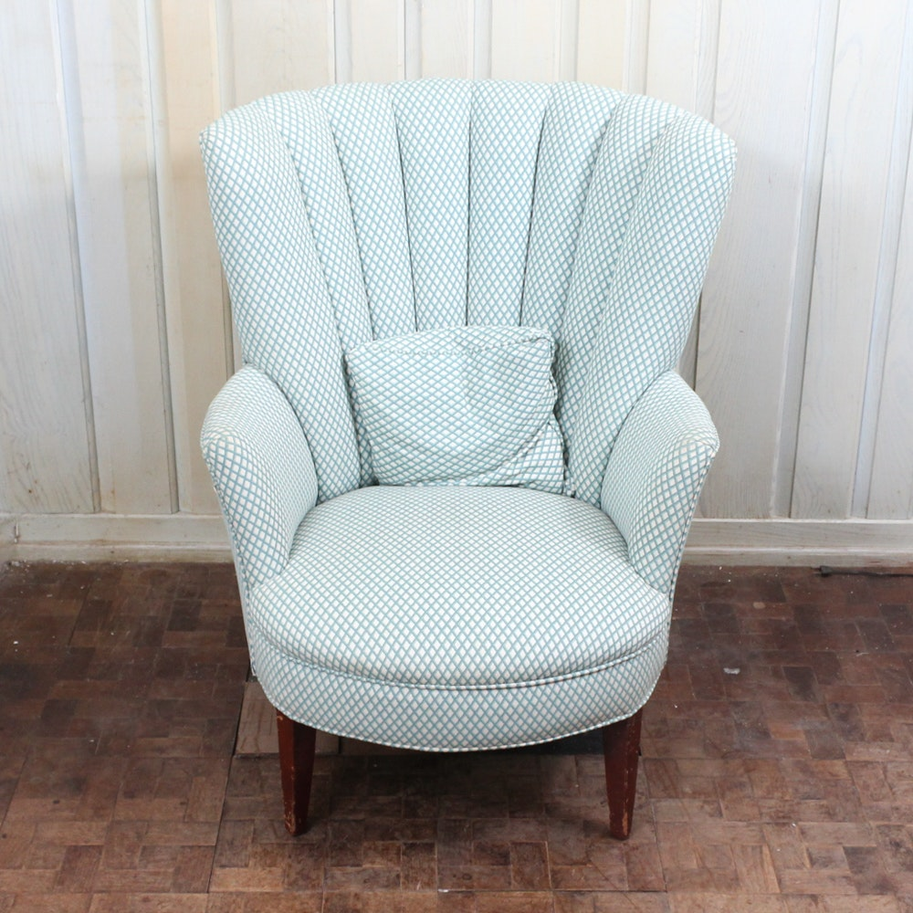 Ordinaire Upholstered Fan Back Chair ...