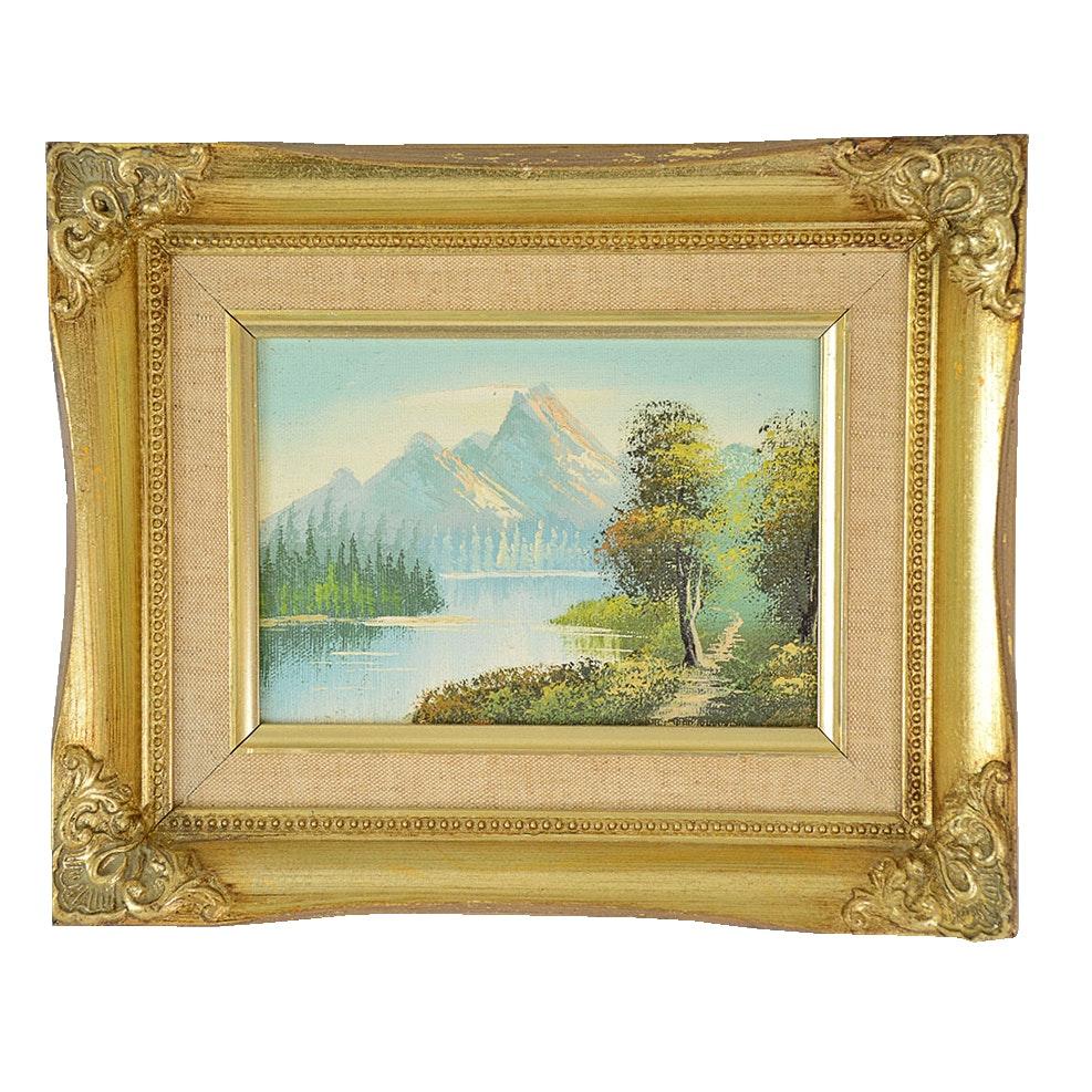 Framed Original Landscape Oil Painting