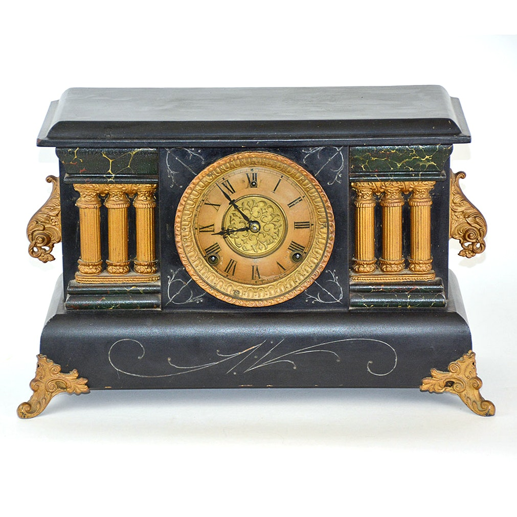 Antique William L. Gilbert Mantel Clock