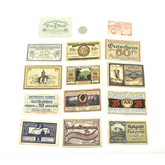 Variety of German Currency