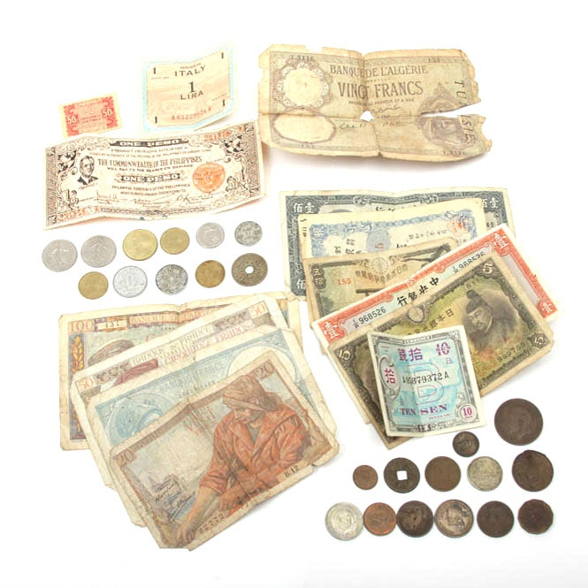 World Currency and Coin Collection