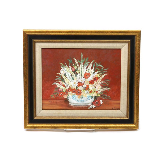 Signed Original Oil Painting of a Floral Bouquet