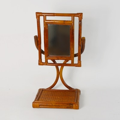Bamboo Swivel Table Mirror
