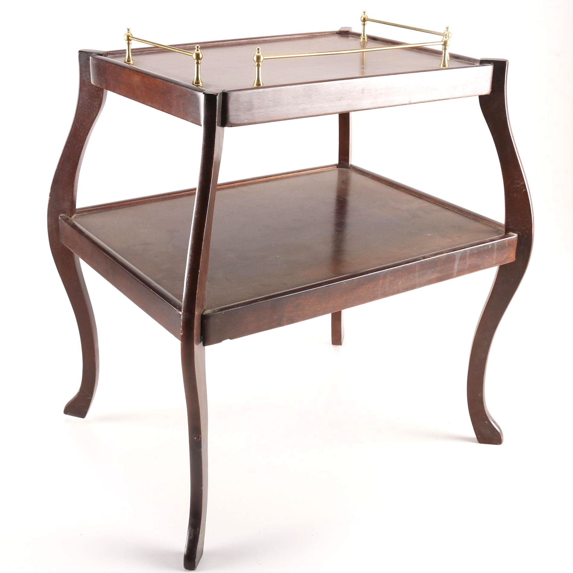 Tiered Walnut Butlers Table