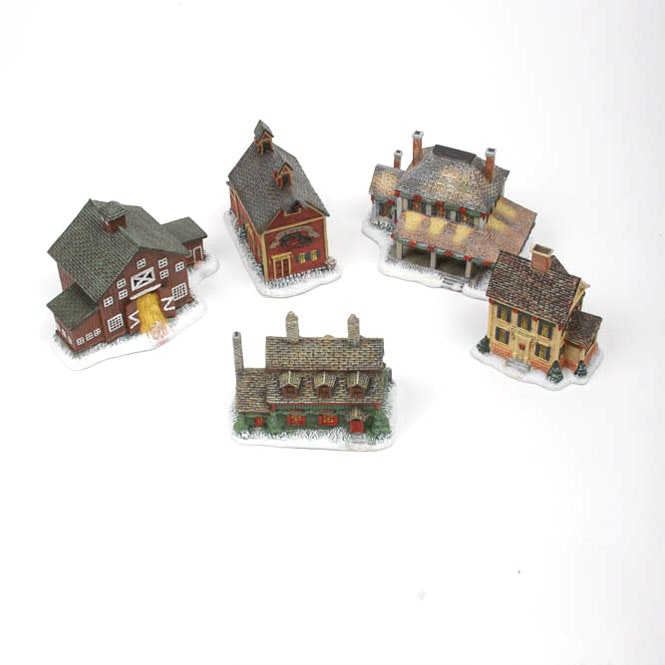 Five Piece Town Hall Christmas Village