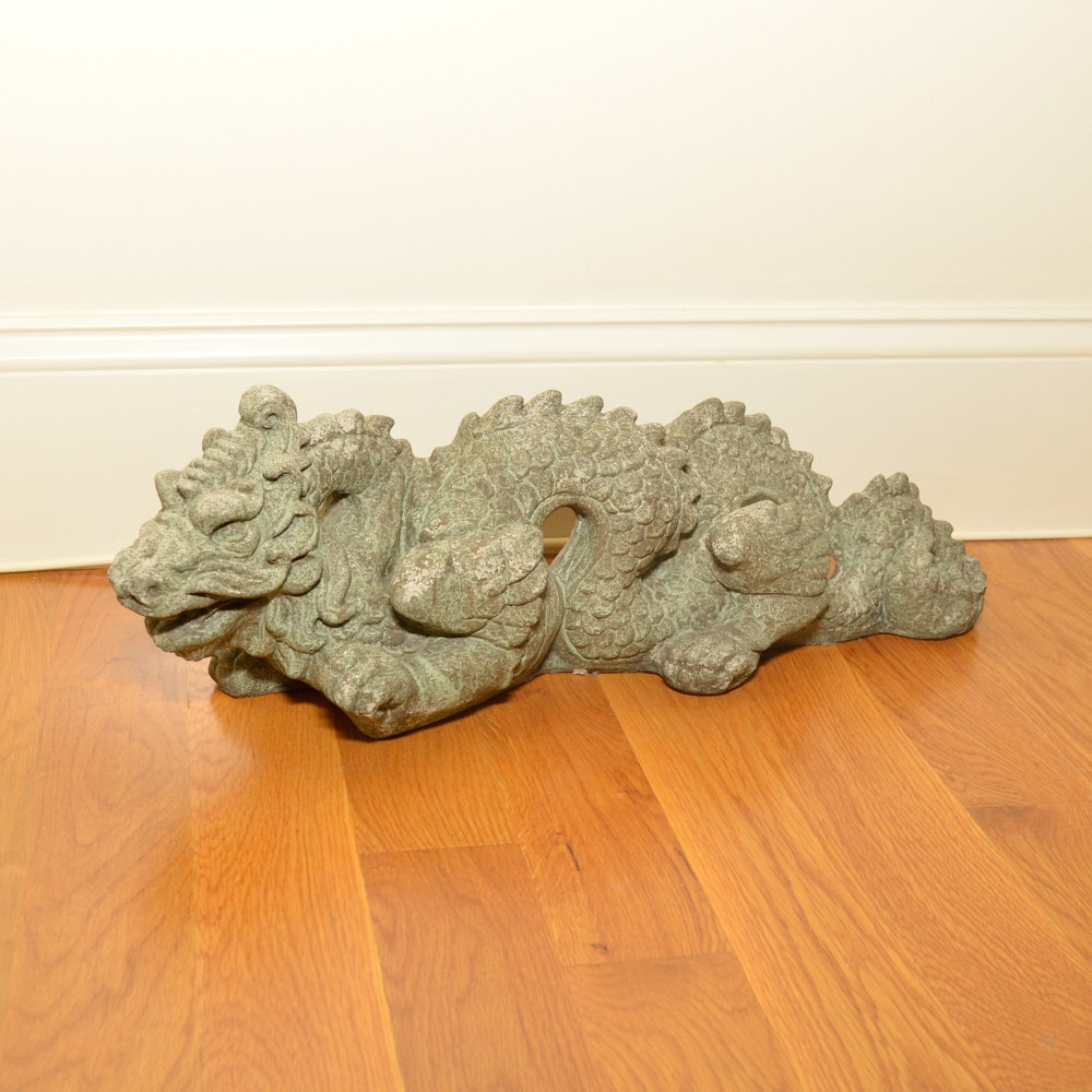Chinese Style Cast Stone Dragon