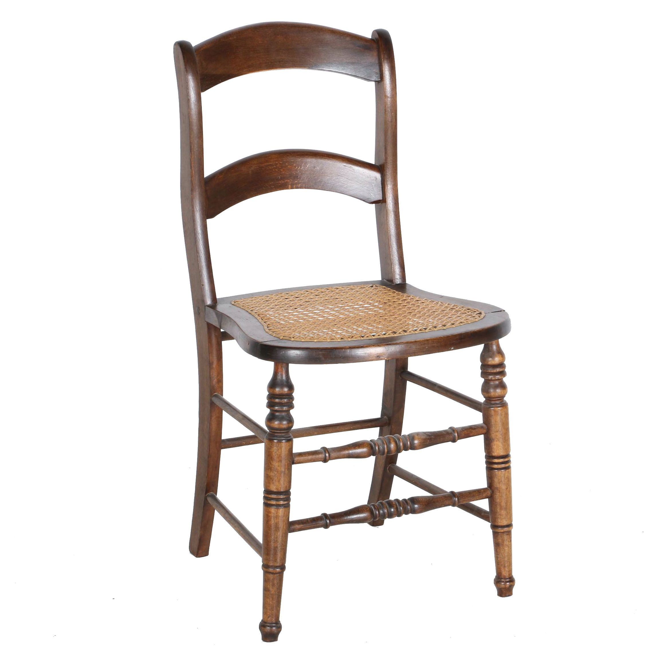 Vintage Caned Side Chair
