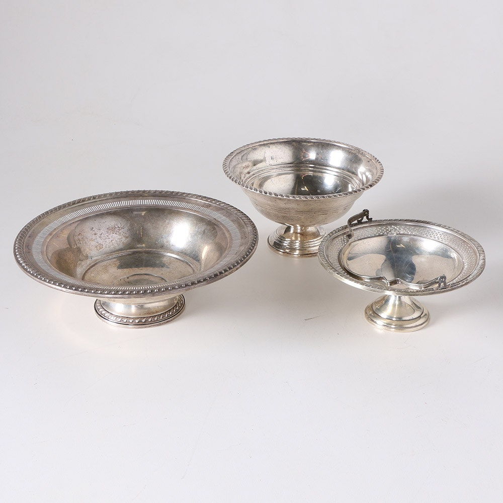 Elgin Silver Co. Sterling Brides Basket and Other Weighted Sterling