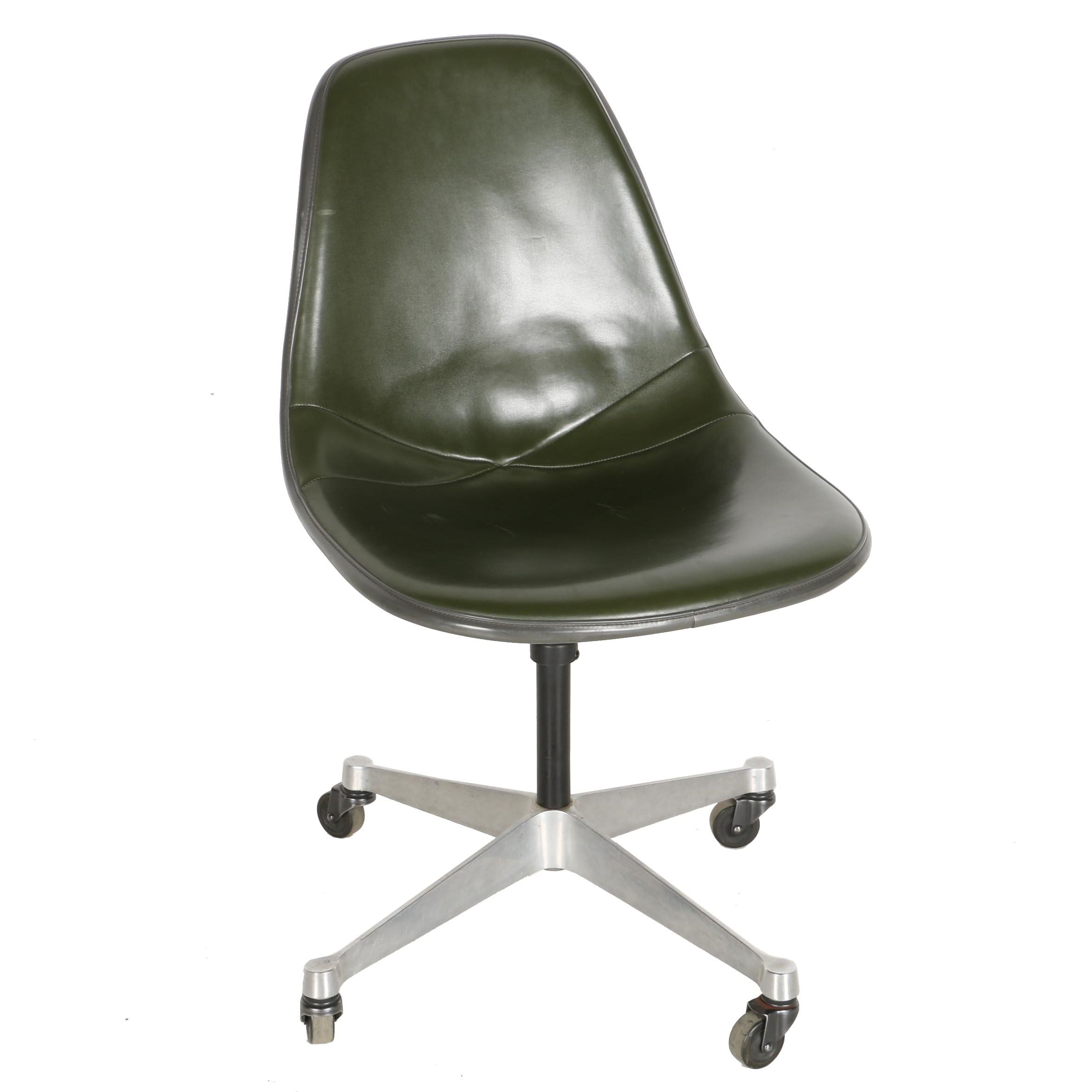 """Mid Century Modern """"1705"""" Swivel Chair by Eames for Herman Miller"""
