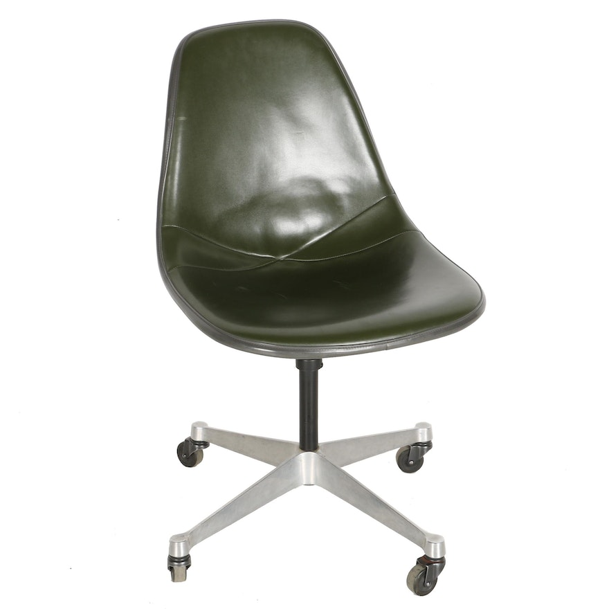 "Mid Century Modern ""1705"" Swivel Chair by Eames for Herman Miller"