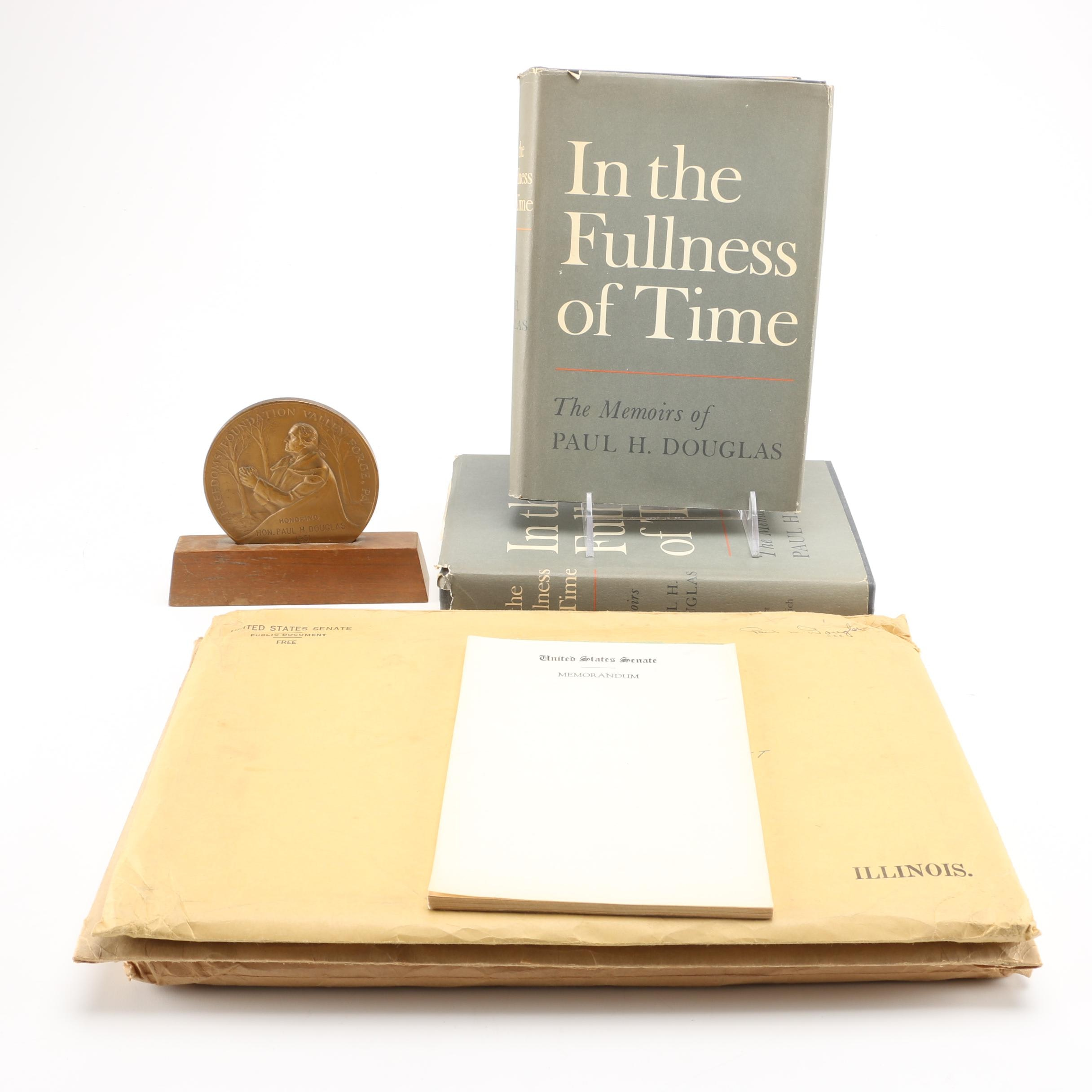 Original Speeches From Senator Paul Douglas and Printed Memoirs