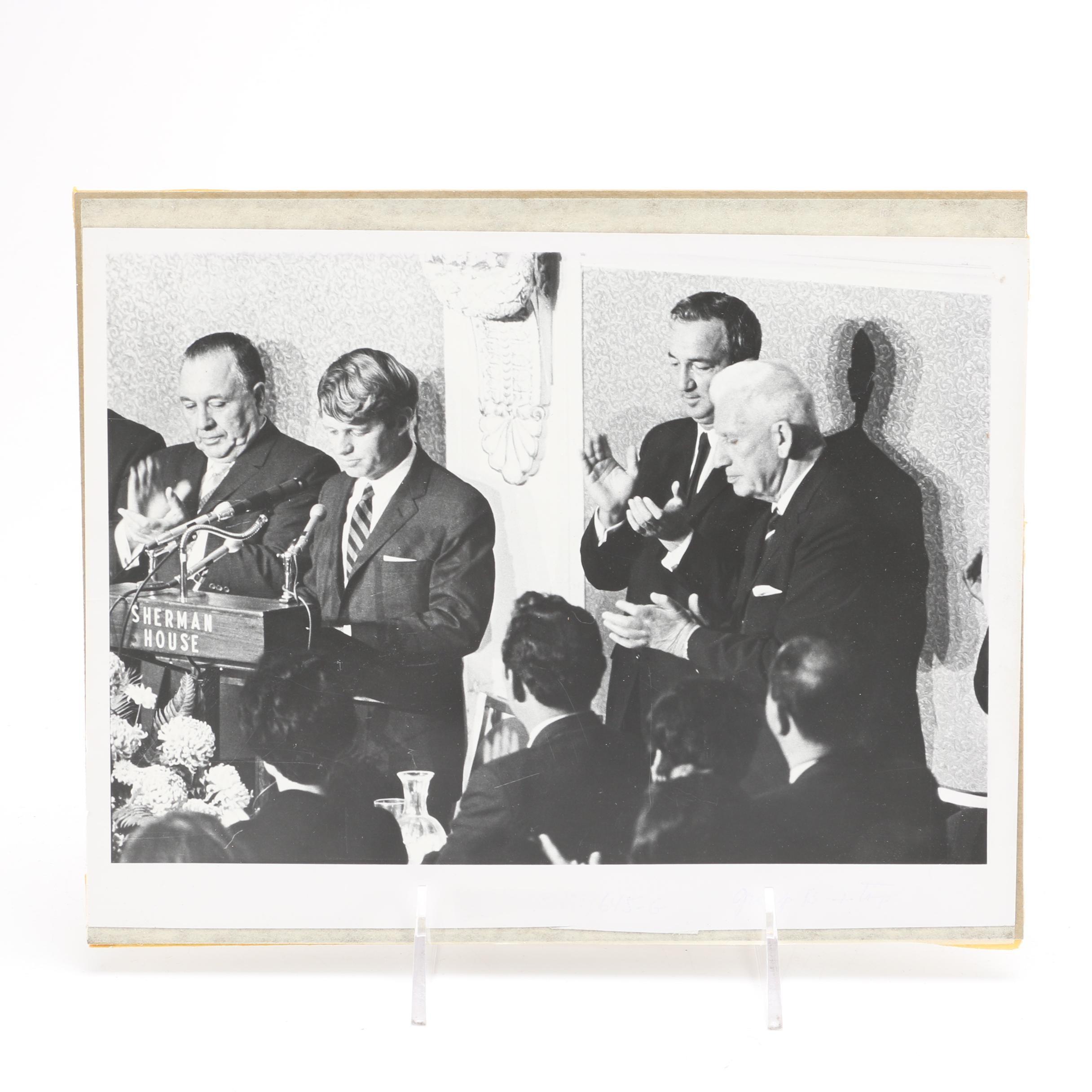 Vintage Portrait of Robert F. Kennedy and Richard Daley Sr.