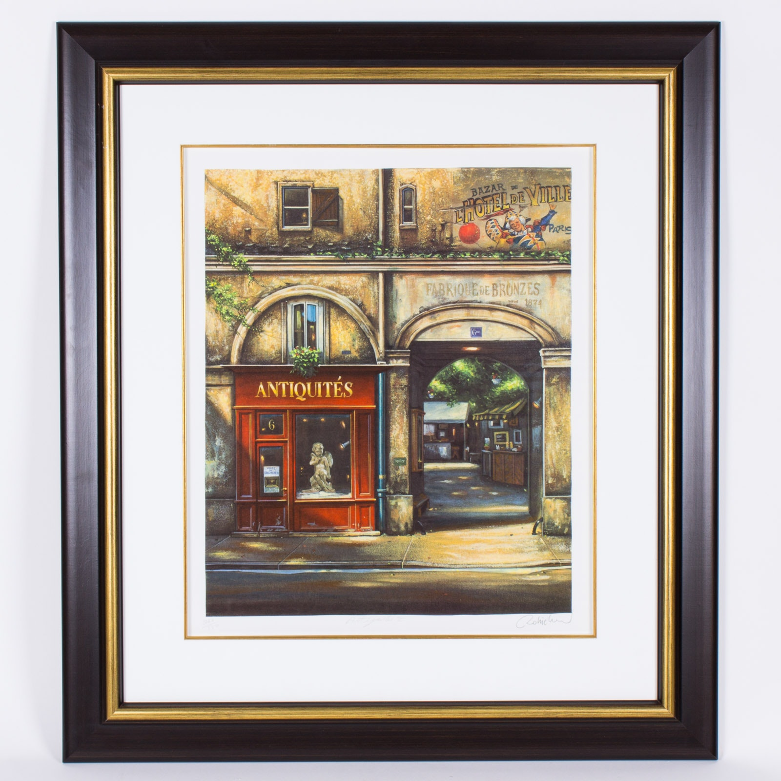 """Carmichael Limited Edition Offset Lithograph """"Antiques II"""""""