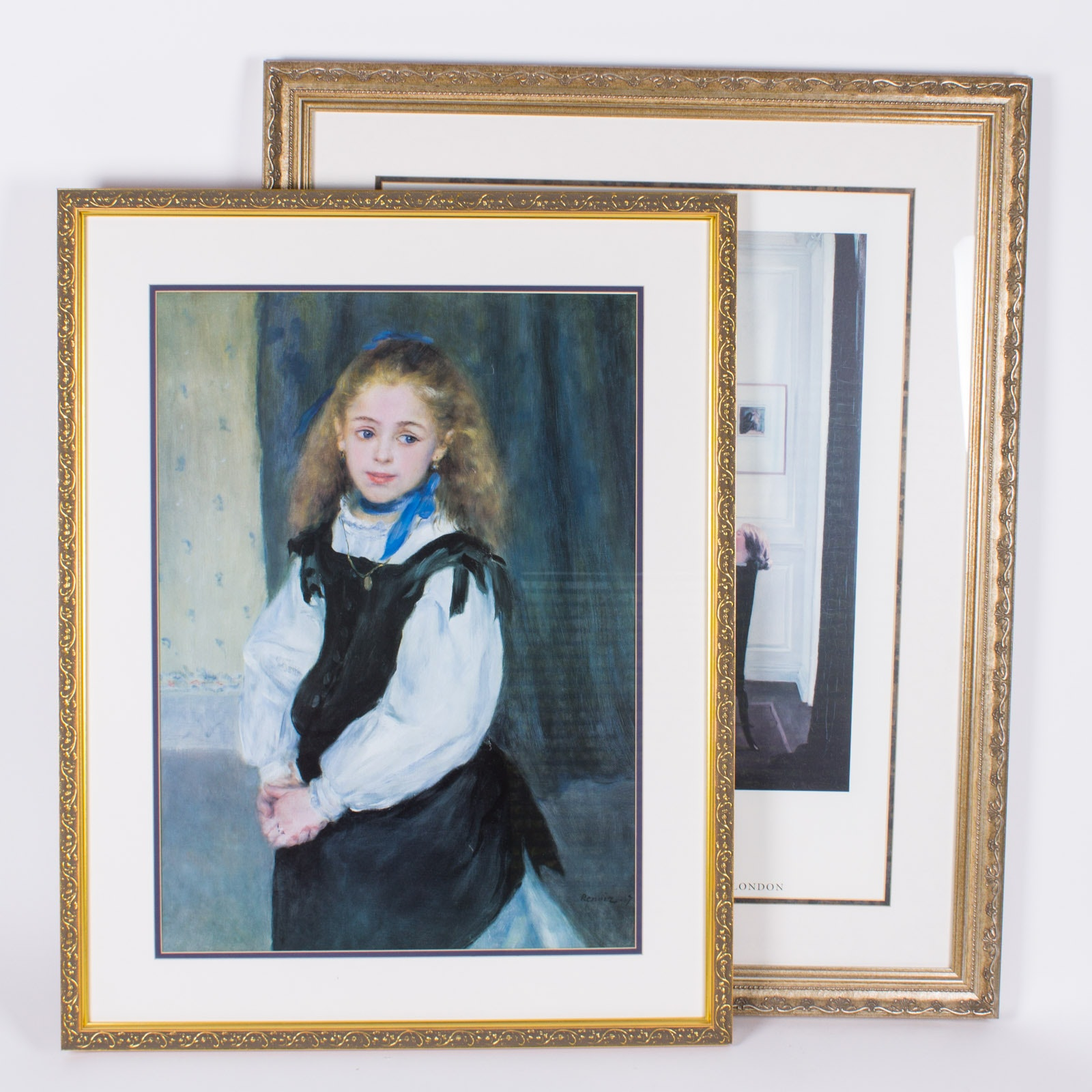 Pairing of Framed Reproduction Prints After Paintings