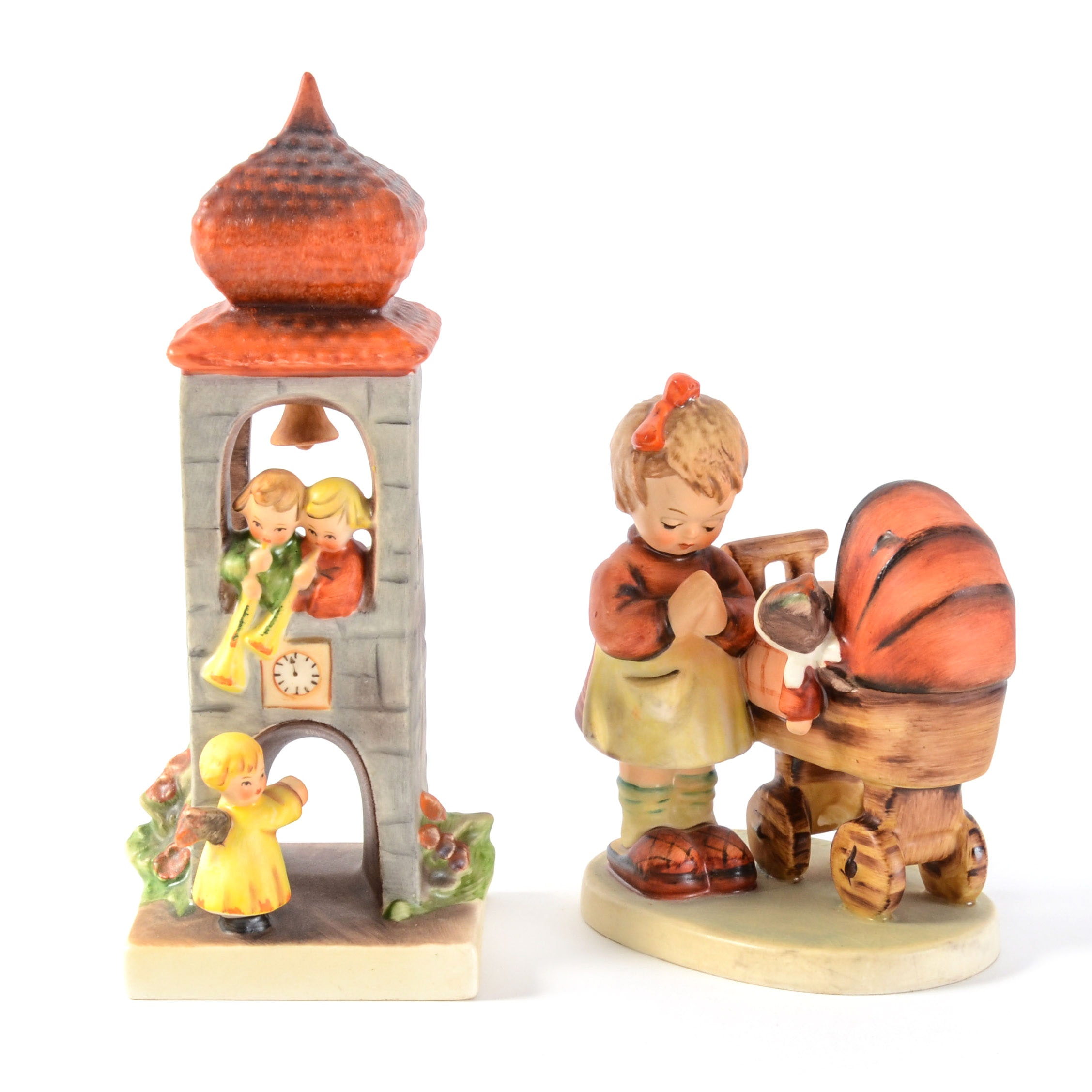 """Gobel Hummel """"Whitsuntide"""" and """"Doll Mother"""" Figurines"""