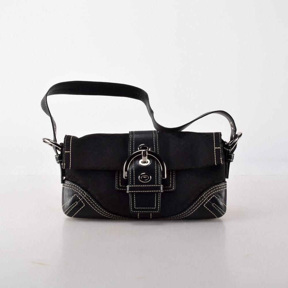 Coach Black Signature Mini-Soho Handbag