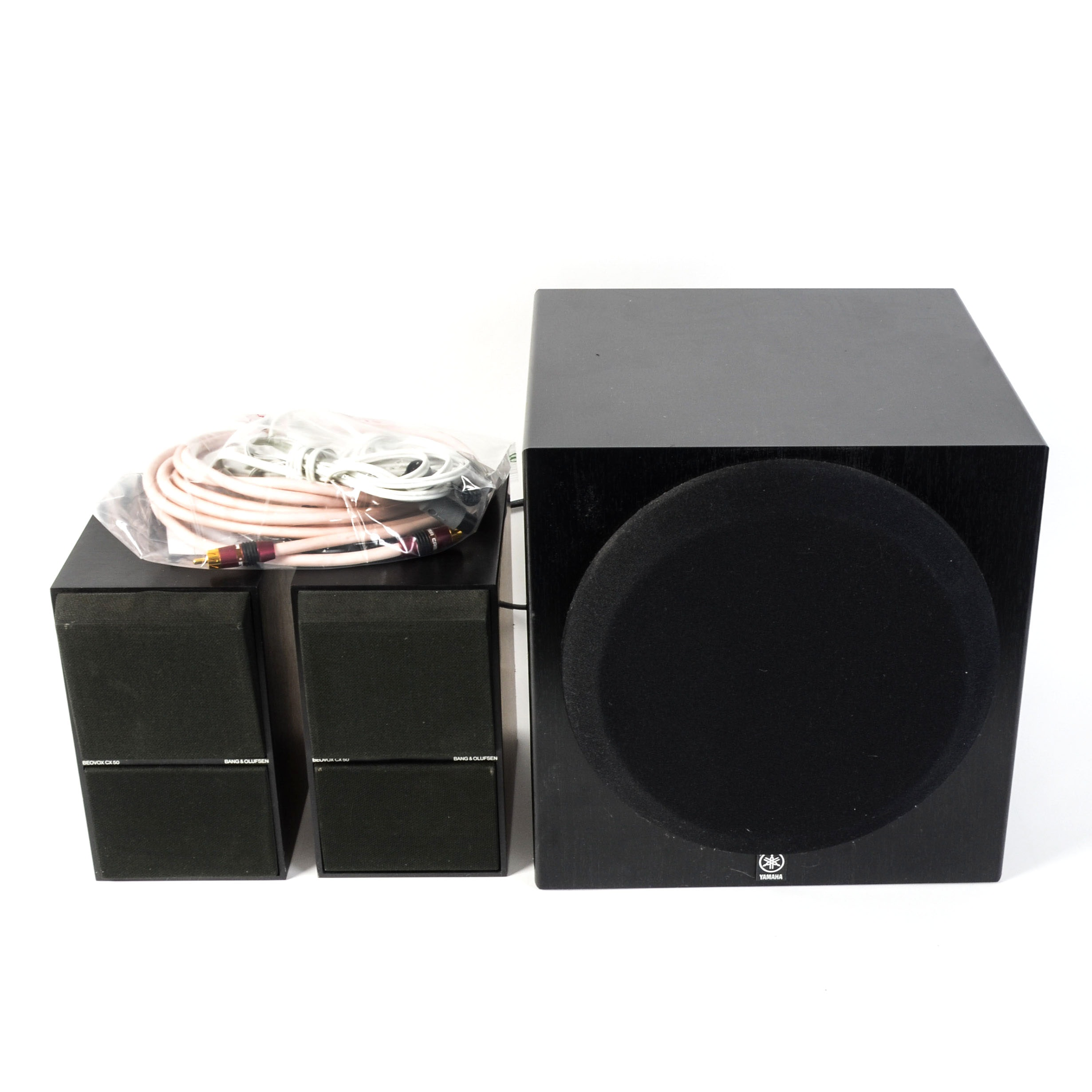 Bang & Olufsen Speakers and Yamaha Subwoofer