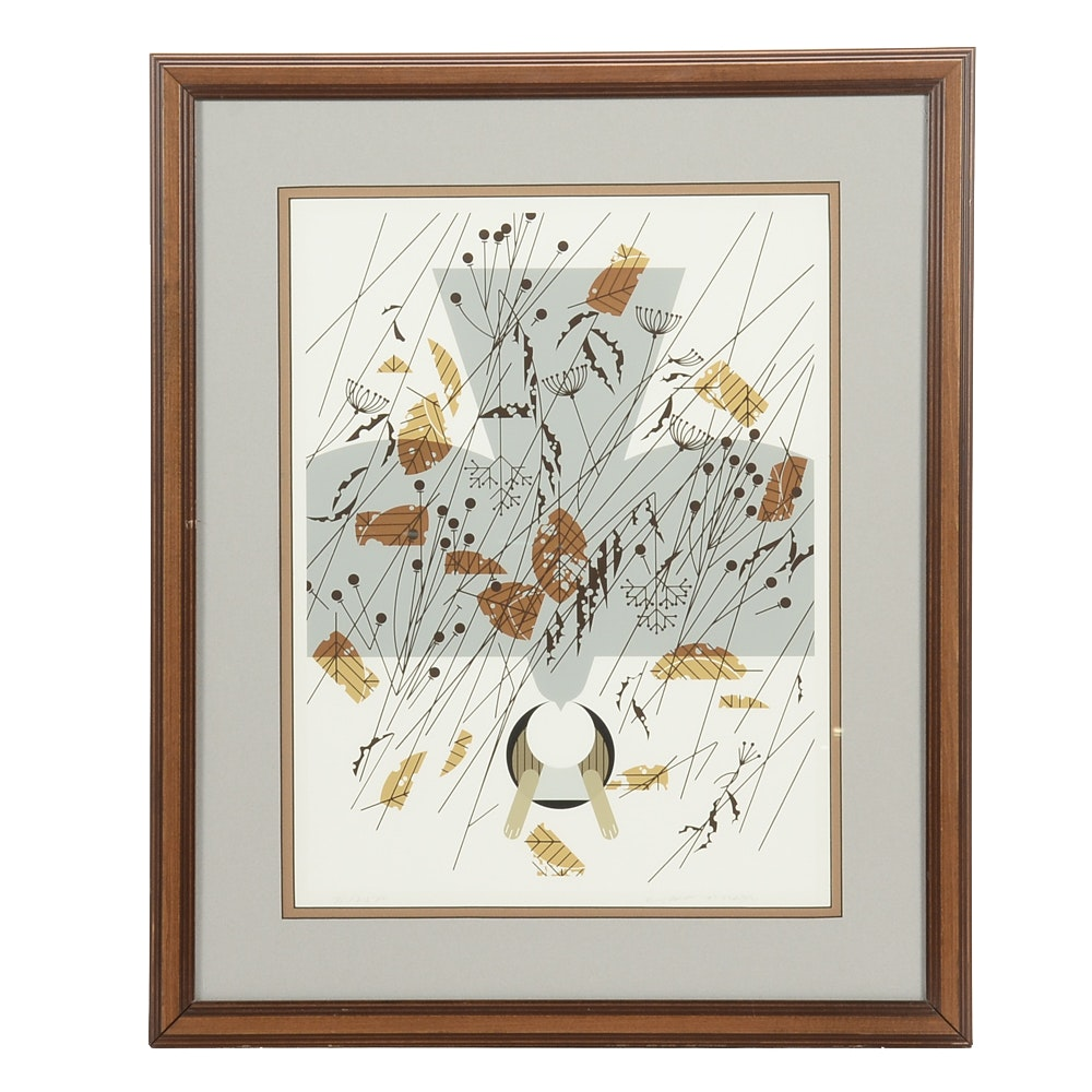 """Charley Harper Signed Limited Edition 1978 Serigraph """"Hare's Breadth"""""""
