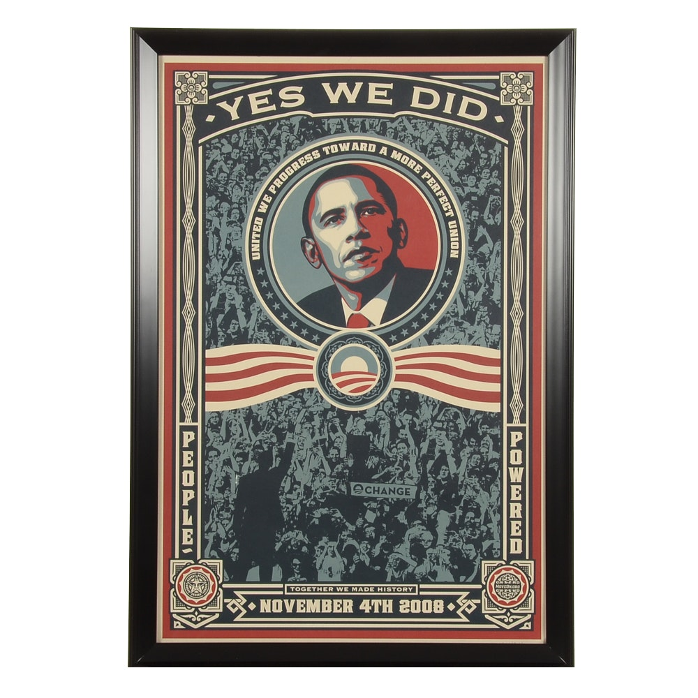 Shepard Fairey Limited Edition Offset Lithograph Poster