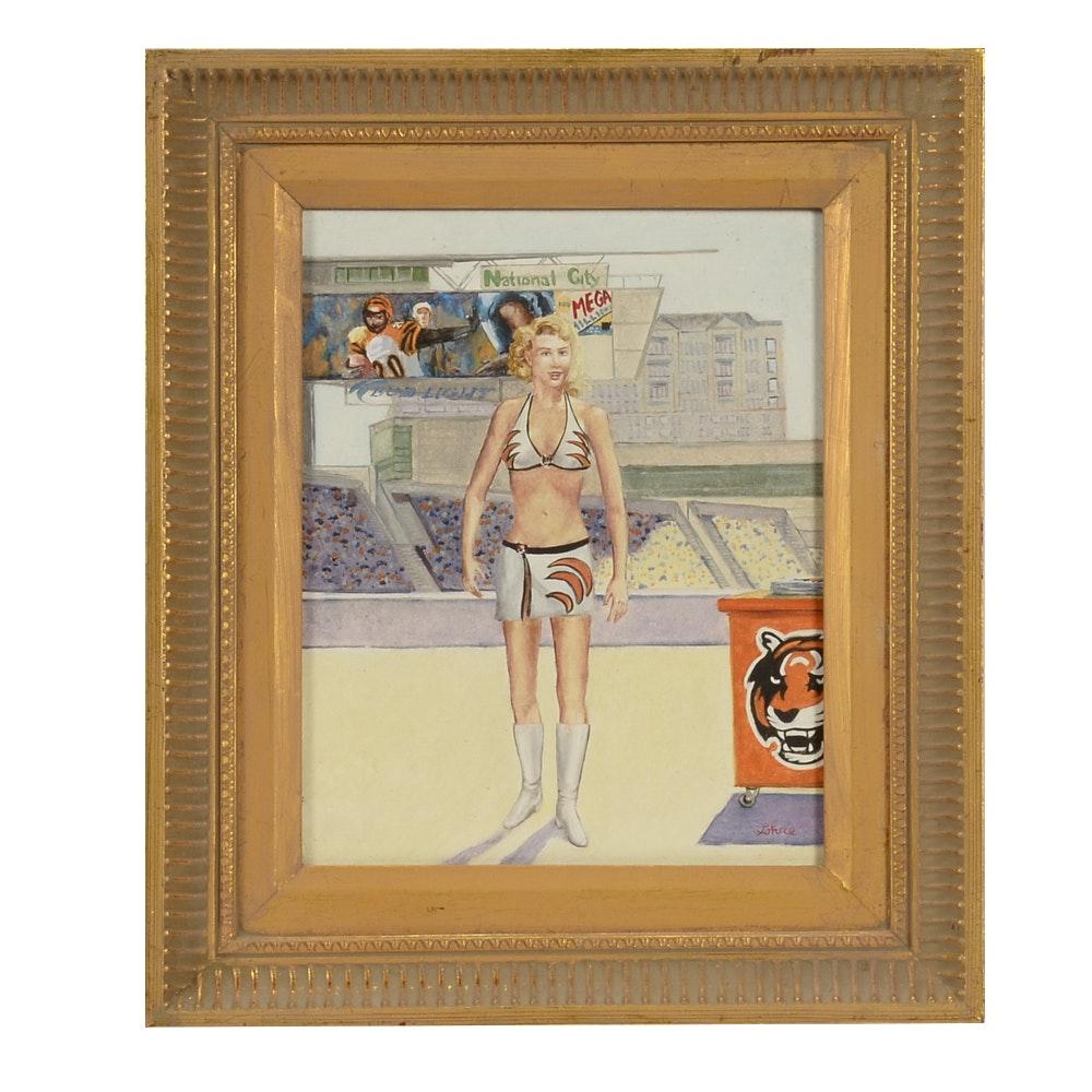 "Tom Lohre Original Oil Painting on Panel ""Bengal"""
