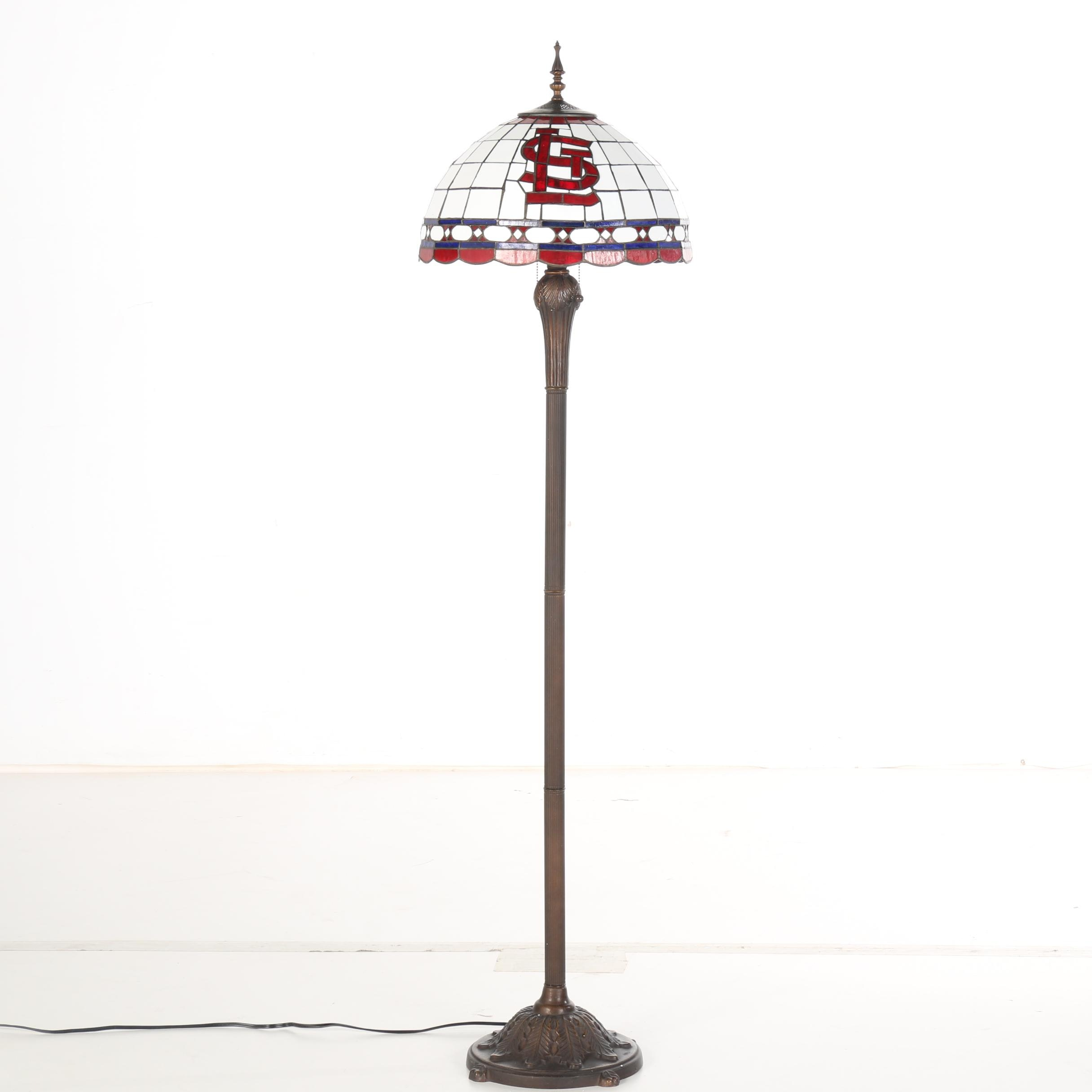 High Quality St. Louis Cardinals Tiffany Style Floor Lamp ...
