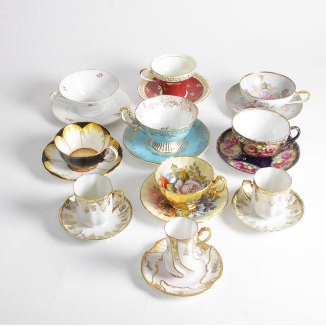 Collection of Tea Cups and Saucers Including Rosenthal