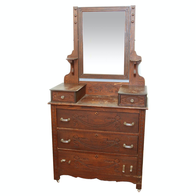 Antique Eastlake Victorian Vanity Dresser