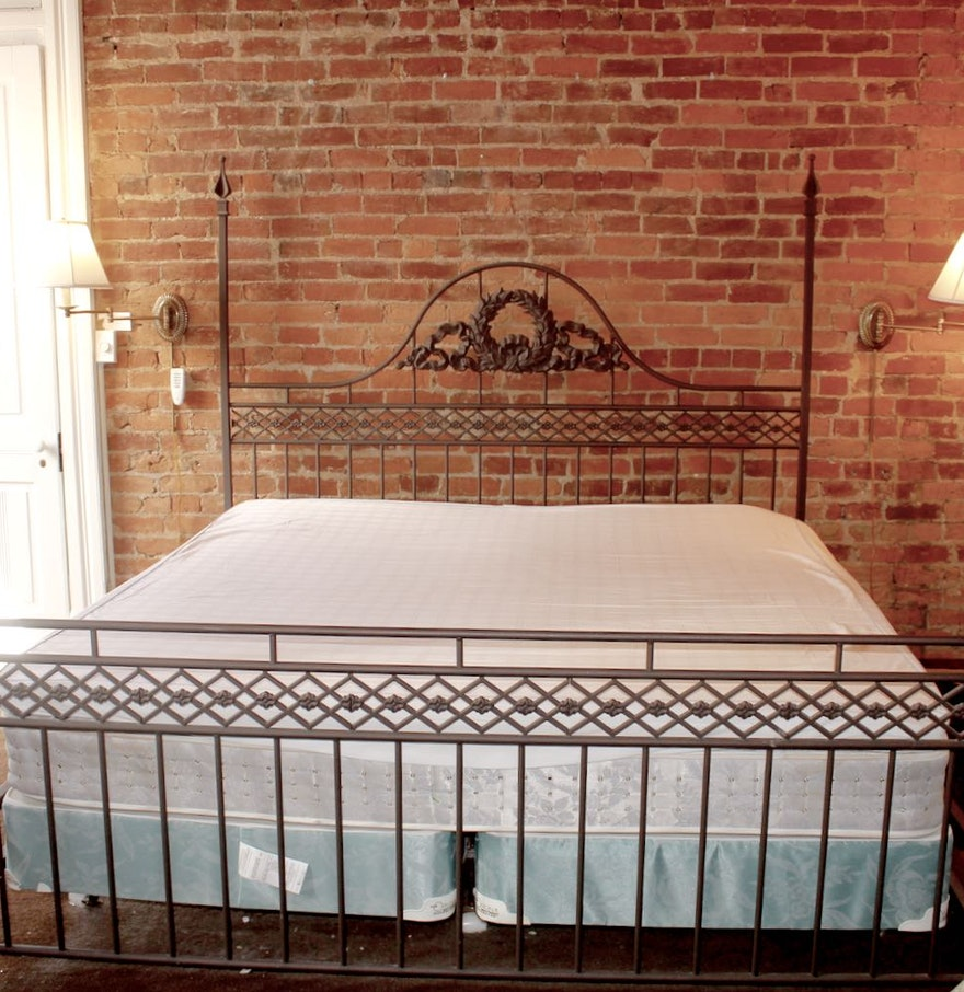 king size iron four poster bed frame