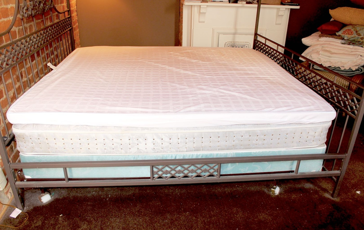 King Size Iron Four Poster Bed Frame Ebth