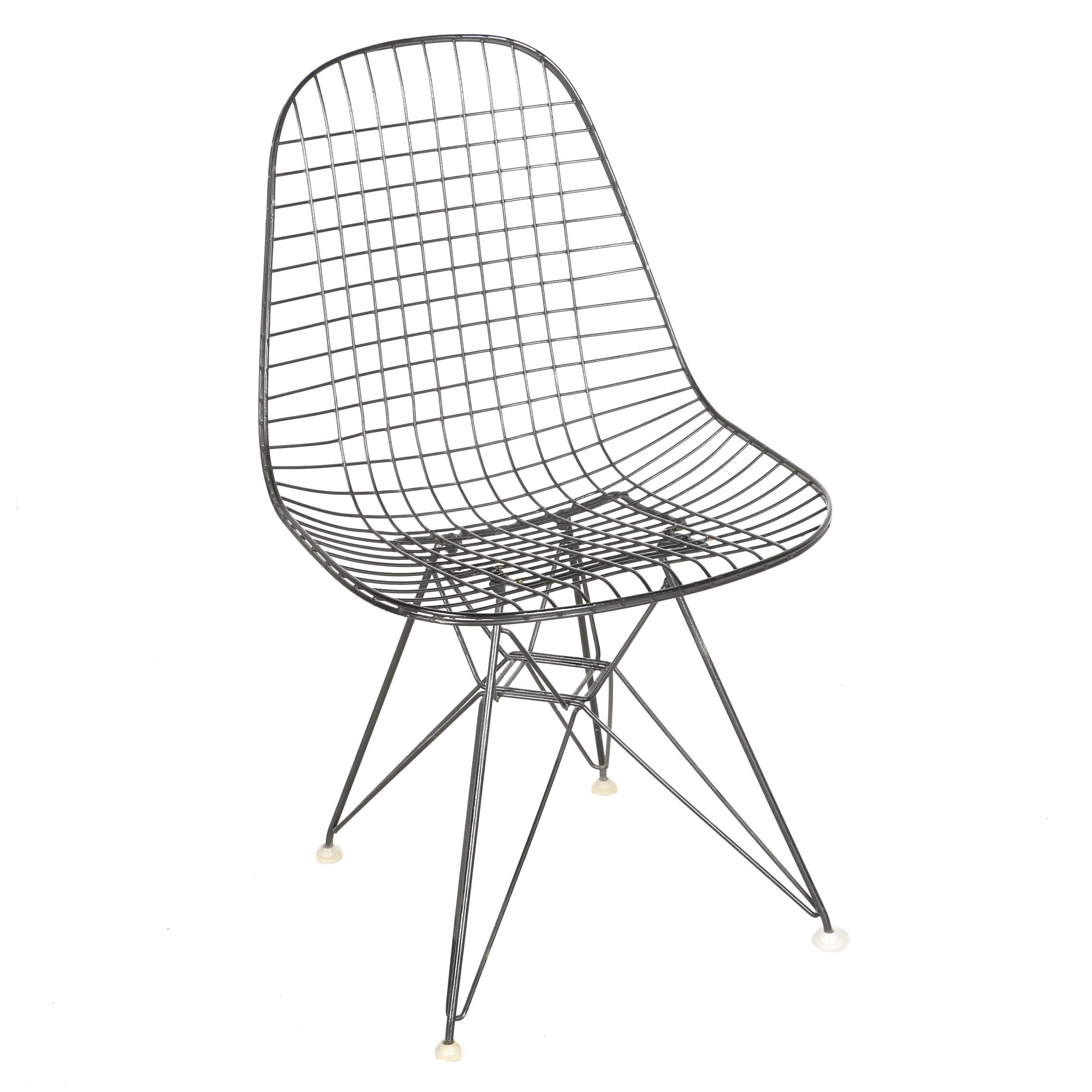 """Mid Century Modern """"DKR-1"""" Wire Chair by Eames for Herman Miller With Provenance"""