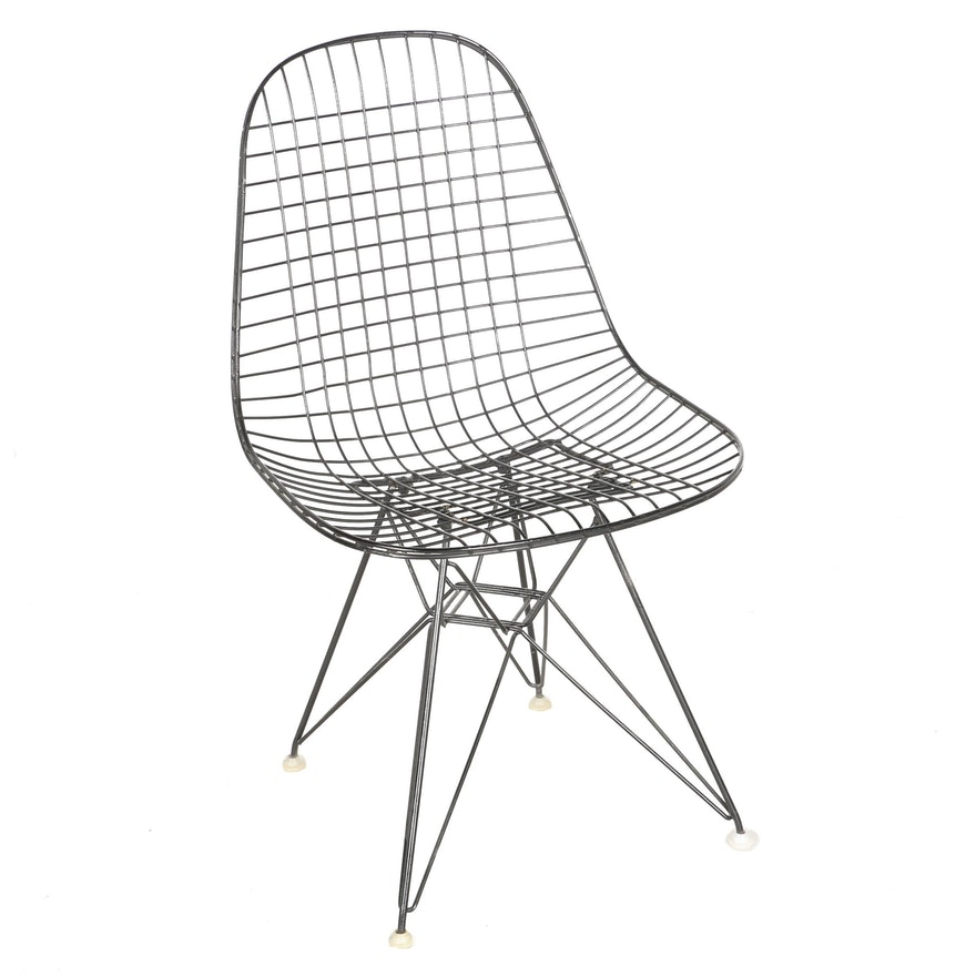 mid century modern dkr 1 wire chair by eames for herman miller