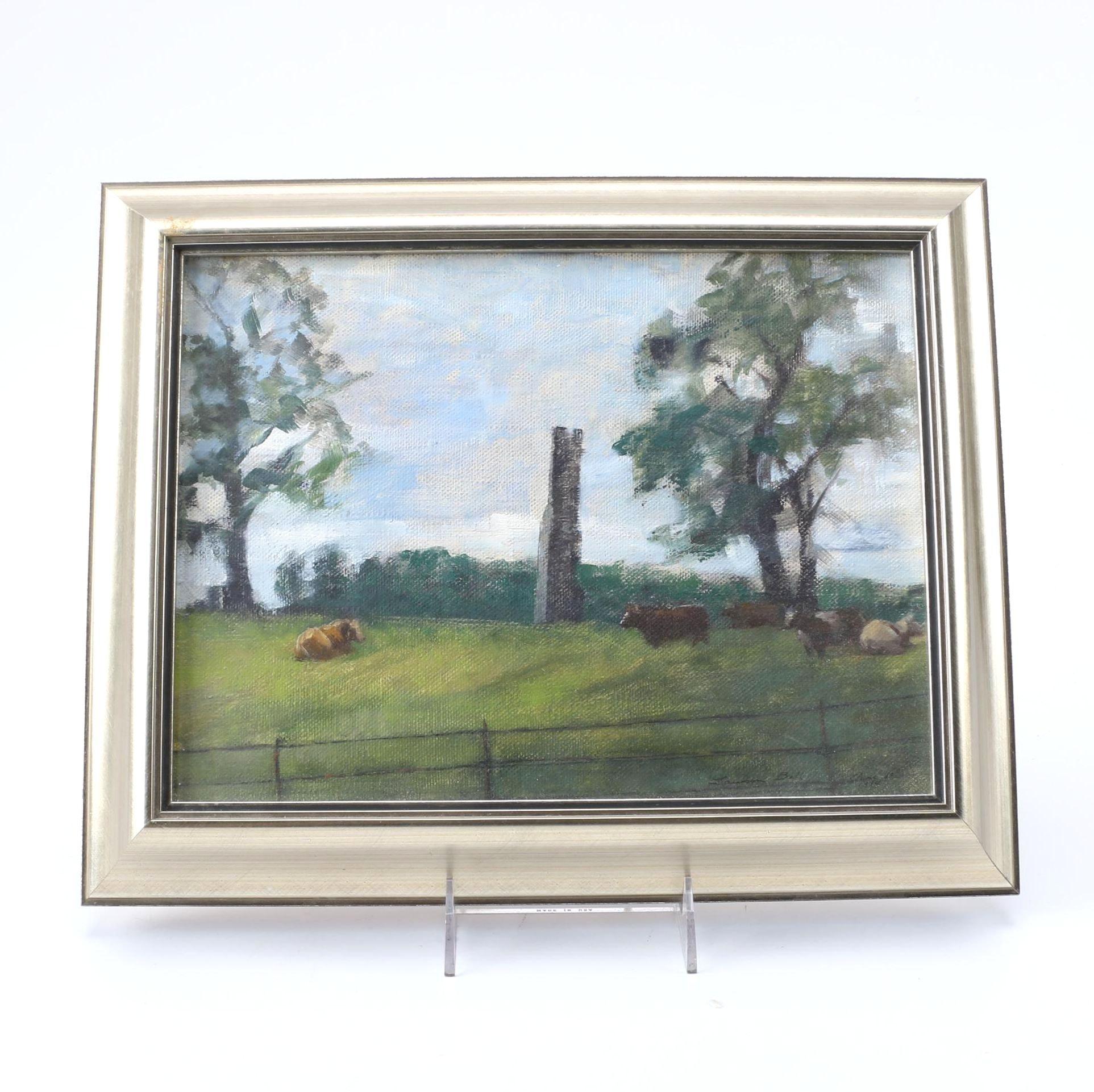 """1994 Susan Lawson-Bell Oil on Linen """"Vestige: Chimney"""""""