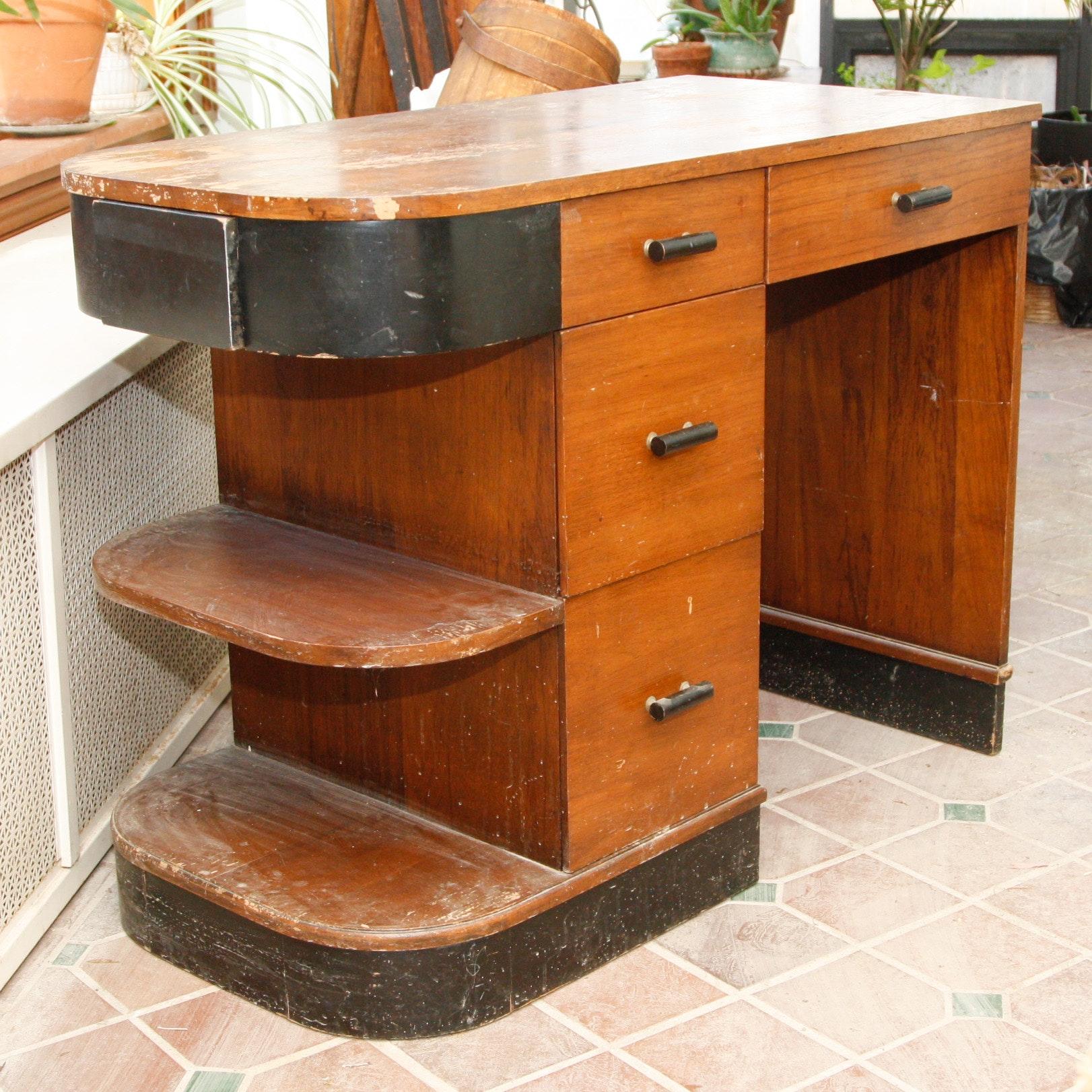 Assymetric Art Deco Writing Desk