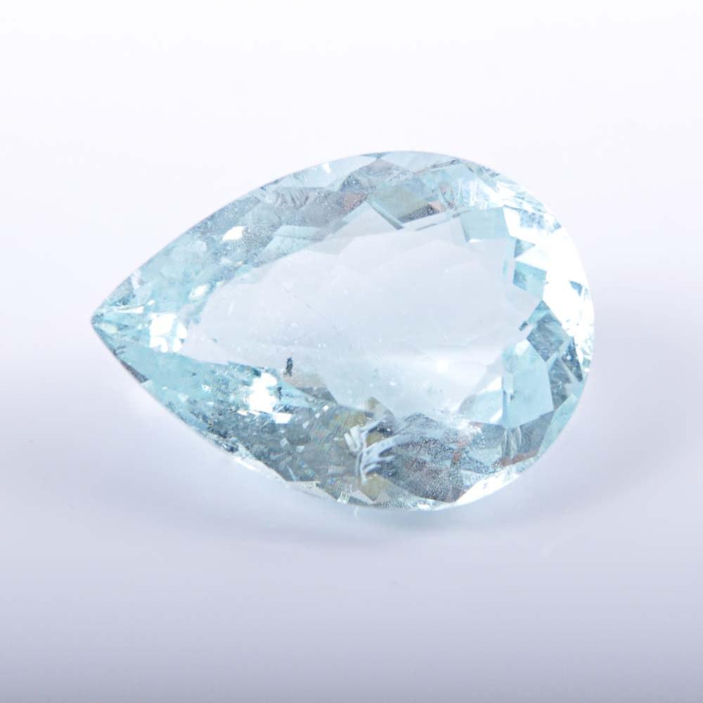 20.29 CTS Pear Shaped Aquamarine Stone
