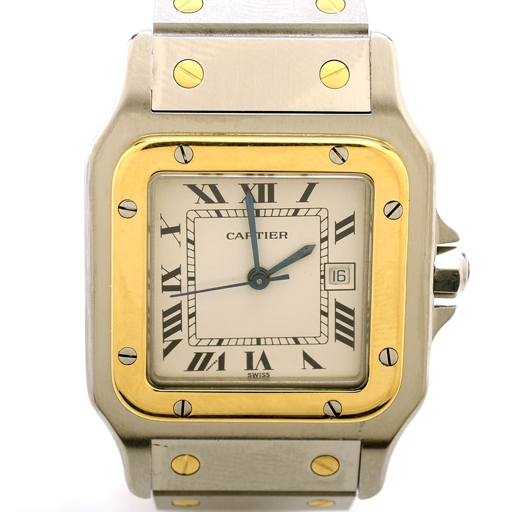 Cartier Santos Date 18K Gold and Stainless Steel Automatic