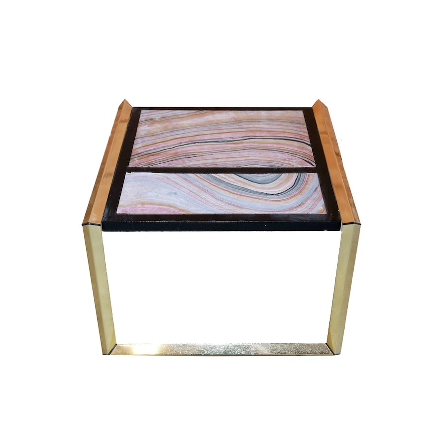 Geode end table by lane furniture ebth for Geode side table