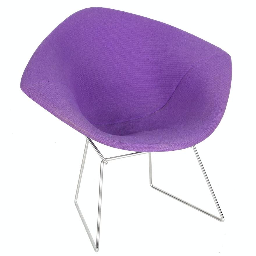 "Mid Century Modern Purple ""Diamond"" Lounge Chair by Harry Bertoia for Knoll"