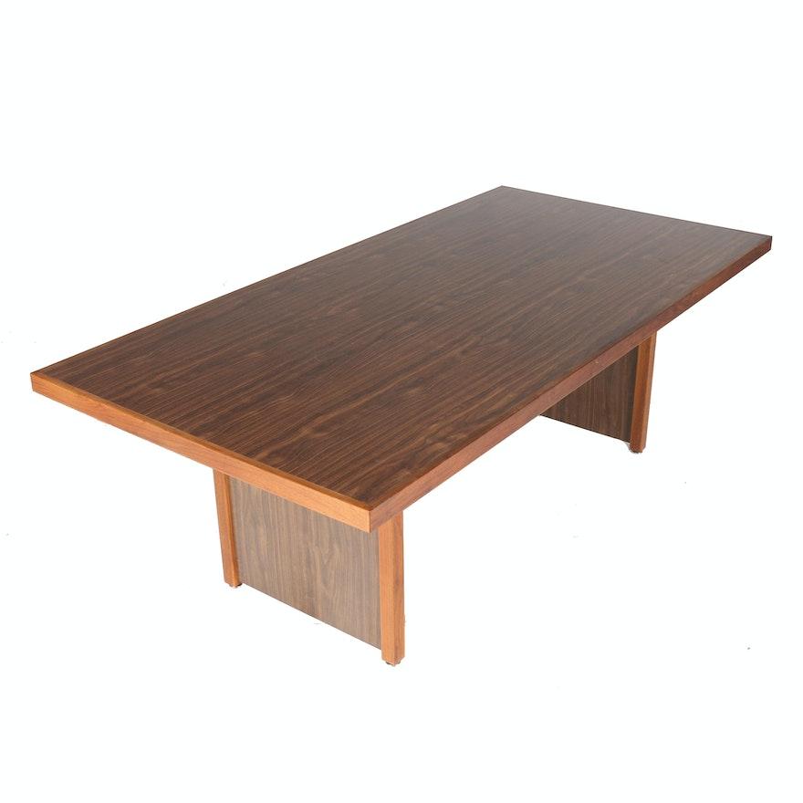 Modernist Robert Metcalf Designed Double-Pedestal Dining Table