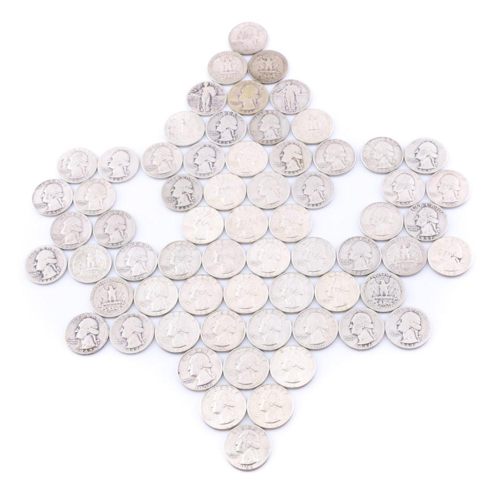 Sixty-Four Washington Silver Quarters