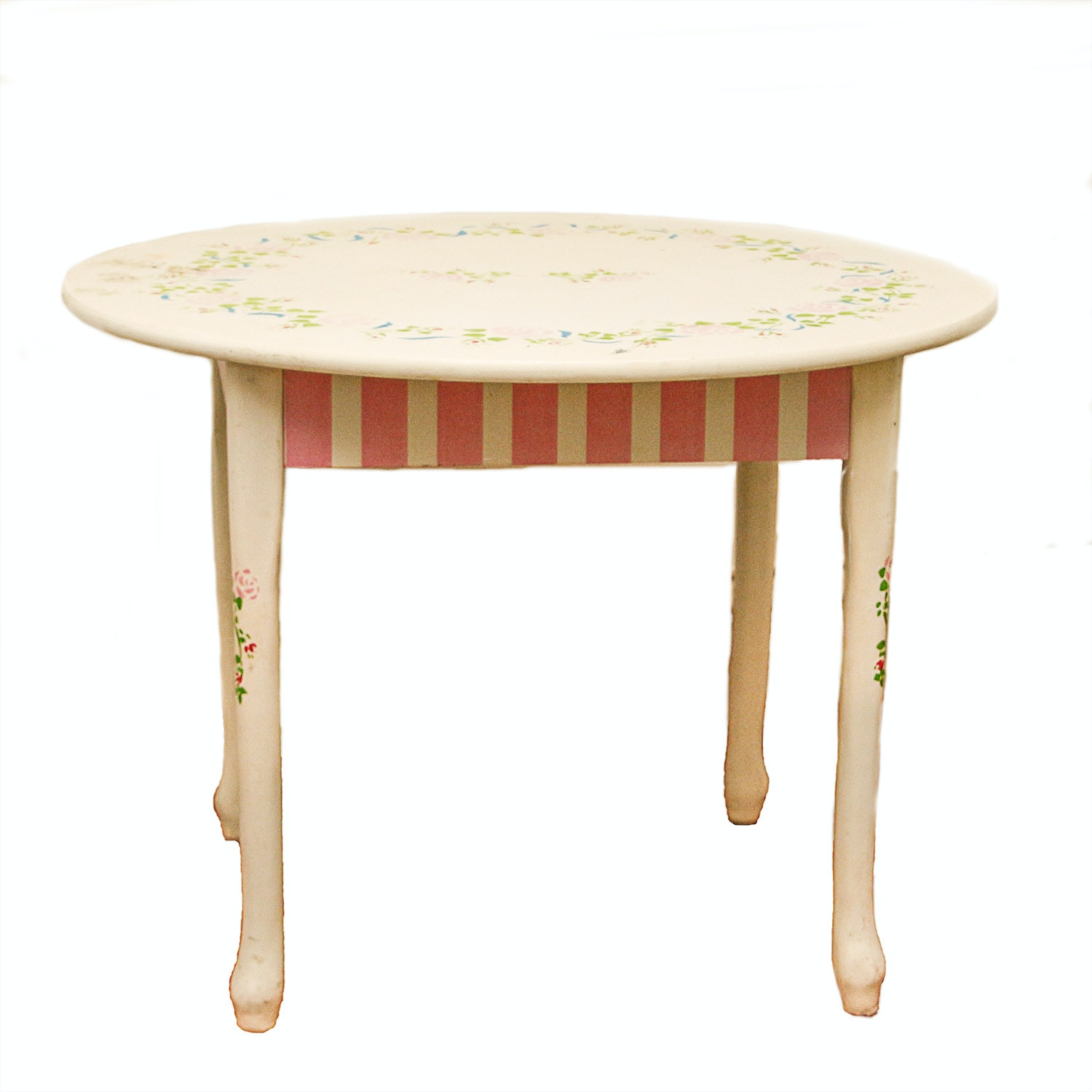 Child's Paint-Decorated Side Table