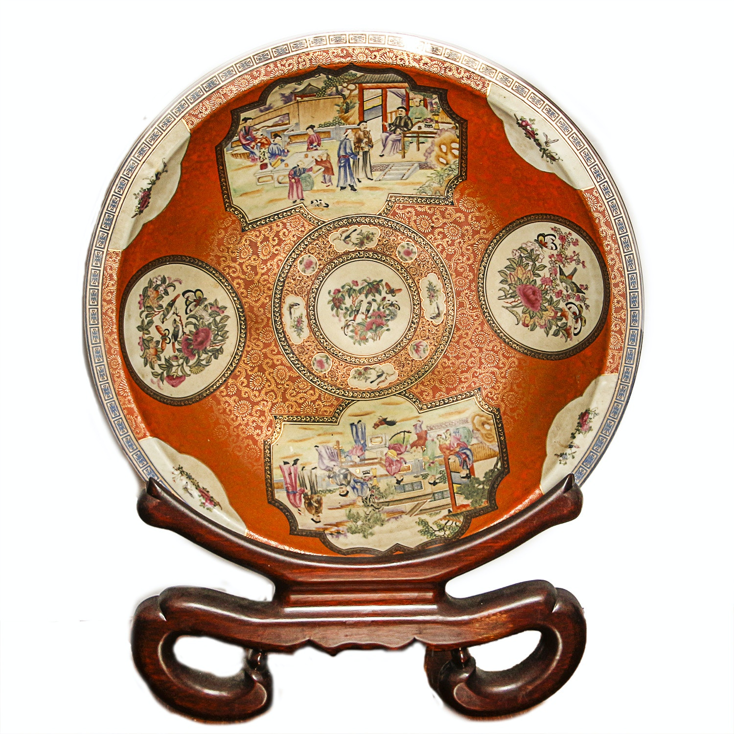 Chinese Over-Sized Decorative Plate