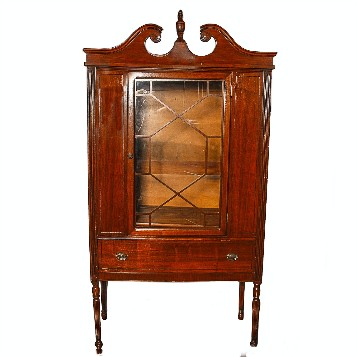 Vintage Sheraton Style Display Cabinet